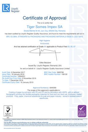 Microsoft Word - 0040390-BRCIOP-ENGUS-UKAS_TIGER SOMES IMPEX SA_